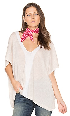 V Neck Poncho in Wicker & Moonlight