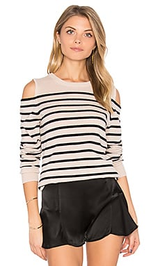 Cold Shoulder Stripe Sweater