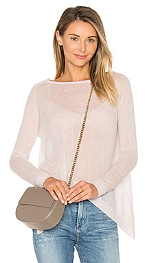 Hanky Hem Boatneck Sweater in Mauve