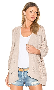 Open Knit Cardigan in Beech
