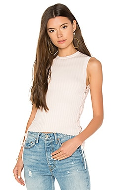 Rib Side Lace Up Sweater