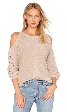 Cable Cold Shoulder Sweater