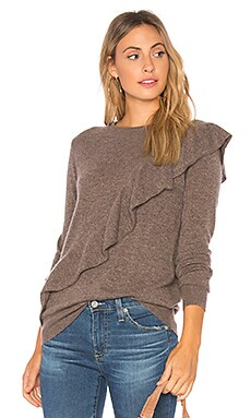 Asymmetric Ruffle Sweater