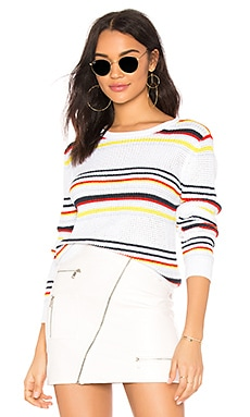 Multi Stripe Textured Crew Autumn Cashmere $176