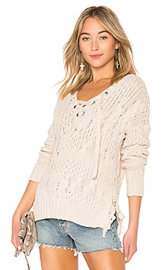 Cable Lace Up Sweater Autumn Cashmere $242
