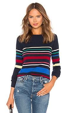 Multi Stripe Boatneck Sweater Autumn Cashmere $86