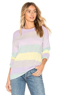 Rainbow Stripe Boyfriend Sweater Autumn Cashmere $105