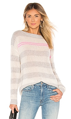 Loose Striped Boatneck Sweater Autumn Cashmere $286