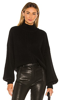 Cable Sleeve Mock Sweater Autumn Cashmere $247