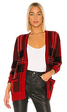 Plaid Boyfriend Cardigan Autumn Cashmere $291