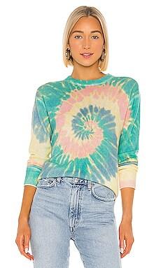 Pinwheel Tie Dye Crew Sweatshirt Autumn Cashmere $340