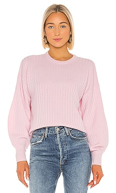 Shaped Rib Bishop Sleeve Crew Sweater Autumn Cashmere $350