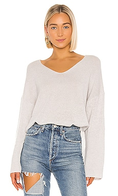 Relaxed Double V Hi Lo Sweater Autumn Cashmere $131