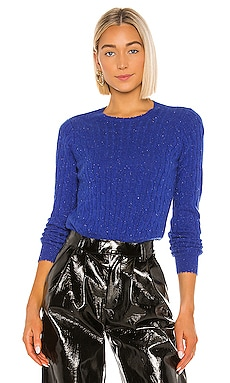 Distressed Cable Crew Sweater Autumn Cashmere $330 NEW ARRIVAL