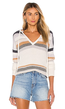 Striped Honeycomb Stitch Hoodie Autumn Cashmere $385