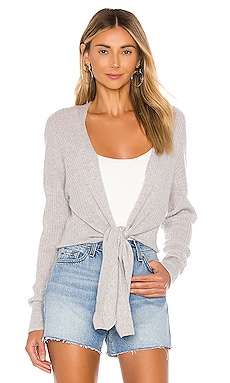 Tie Front Rib Cardigan Autumn Cashmere $285 BEST SELLER