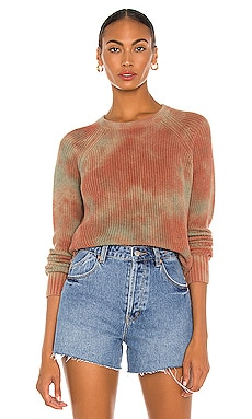 Blotched Scallop Shaker Sweater Autumn Cashmere $185