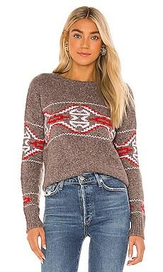 Tribal Jacquard Crew Sweater Autumn Cashmere $495 NEW