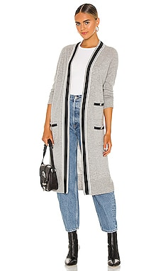 Banded Stripe Cardigan Autumn Cashmere $276