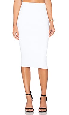 Autumn Cashmere Pencil Skirt in White