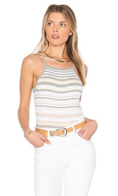 x REVOLVE Bib Stripe Crop Top in Sweatshirt & Bleach White Combo