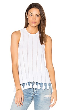 Sleeveless Tank in Bleach White