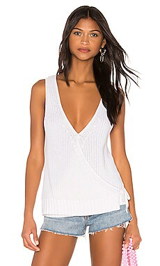 Crossover Back Shaker Tank Autumn Cashmere $70