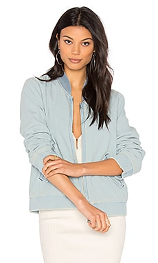 x Earnest Denim Bomber en Chambray