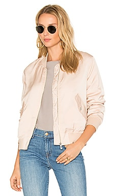 Classic Bomber in Pale Peach