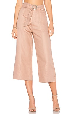 Cropped Tie Waist Pant