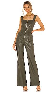 Reverie Vegan Leather Jumpsuit Alexis $539 Collections