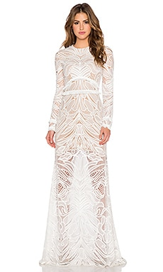 Alexis Vice Lace Maxi Dress in White Lace