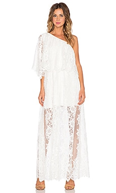Alexis x REVOLVE Tory One Shoulder Dress in White Lace