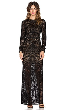Kassidy Fringe Lace Dress in Black Lace