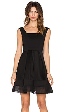 Alexis Rafaelo Netted Dress in Black