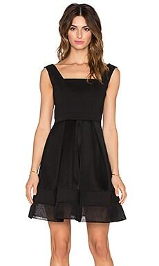 Alexis Rafaelo Netted Dress in Black