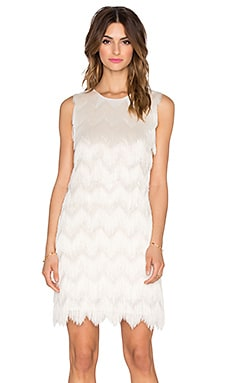 Alexis Goddess Fringe Dress in Cream