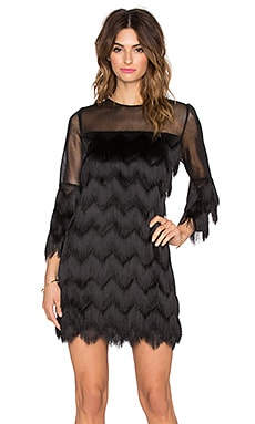 Alexis Xiomarra 3/4 Sleeve Fringe Dress in Black