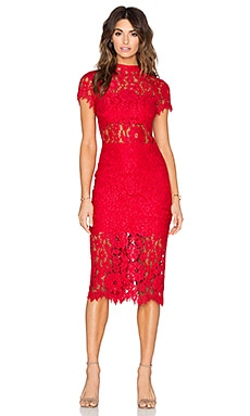 Alexis Leona Dress in Red Lace