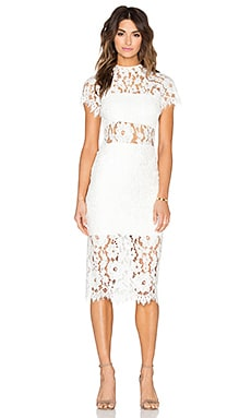 Leona Dress in White Lace