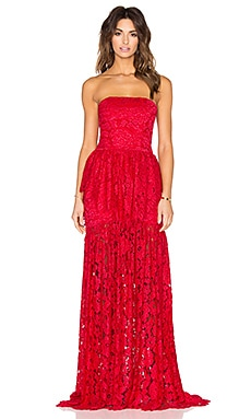Alexis Sylvia Maxi Dress in Red Lace