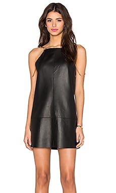 Alexis Zoya Dress in Black Leather