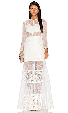 Alexis Joelle Gown in White