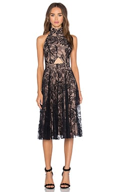 Alexis Georgie Dress in Black Lace