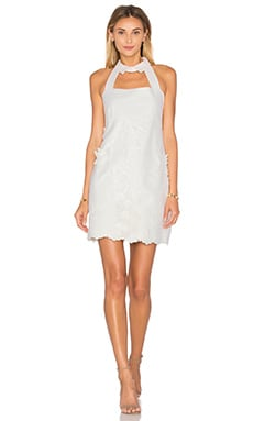Bruna Dress en Broderies Fleurs Blanches