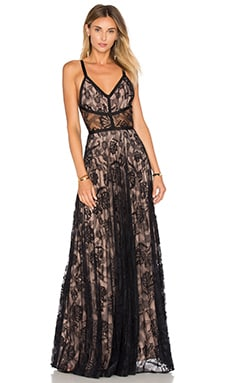 Isabella Gown in Black Lace