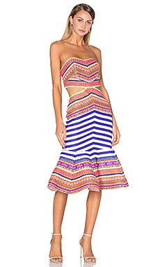 Yulia Midi Dress in Aztec Neon