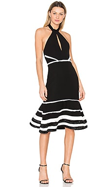 Doriann Dress in Black & White