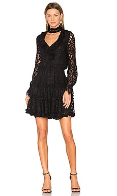 Catalina Dress in Black Lace