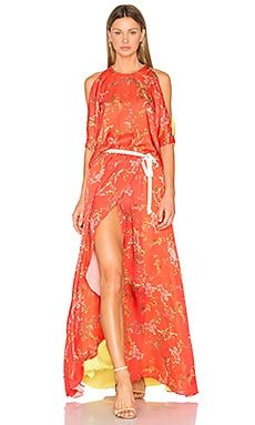 Angia Gown in Blooming Red